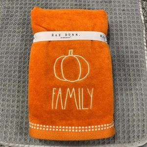 Rae Dunn FAMILY Set of 2 Hand Towels